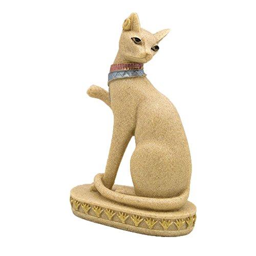 OMEM Decorações para aquários de aquário de gato branco egípcio decoração de casa presente (C)