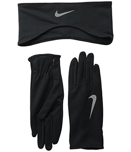 Nike Lady Dri-fit Guante (S) and Diadema Running Set, Mujer, Color Negro, tamaño Small