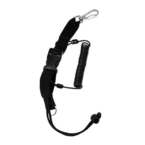 HomeDecTime Nylon Fuerte Buceo Buceo Lanyard Clip Holder Hebilla de Liberación Rápida Instrumento Correa 15.75 ''