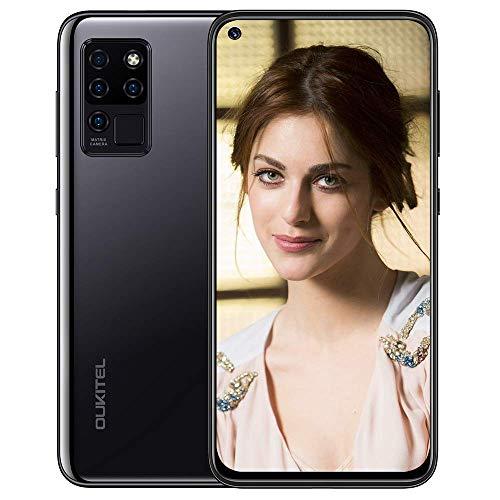 Cellulari Offerte, Oukitel C21 4G smartphone offerta, display FHD+ da 6,4 pollici Fotocamera posteriore quadrupla da 16 MP,4GB+64GB, 4000mAH Android 10, ID viso, sblocco impronta digitale viola,nero
