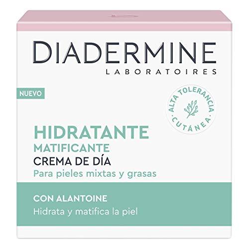 Diadermine - Crema Hidratante y Matificante de Día, 50ml, para pieles normales y mixtas, Cutis uniforme y sin brillos