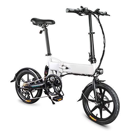 RVTYR Folding Bike, Elettrico Pieghevole della Bicicletta for Adulti Lega di Alluminio da 16 Pollici Portable 250W 25KM / H modalità 3 moma Bikes