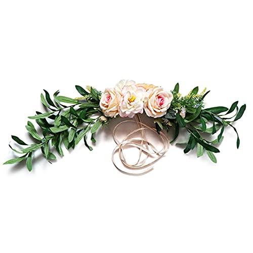 Flor Preservada Umbral de la puerta de la guirnalda de la flor artificial DIY Decoración de la boda del hogar Fiesta de la casa de la flor de la flor de la Navidad Garland Regalo Rose Peony Flor Artif