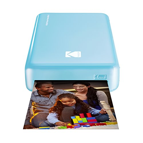 Kodak - Impresora fotográfica mini 2HD, instantánea, inalámbrica y portátil, con tecnología de impresión patentada 4Pass,compatible con iOS y Android, azul