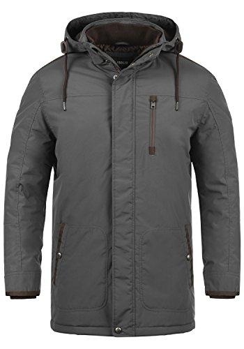 !Solid Dempsey Herren Parka Lange Winterjacke Mantel mit Kapuze aus hochwertiger Materialqualität, Größe:S, Farbe:Dark Grey (2890)