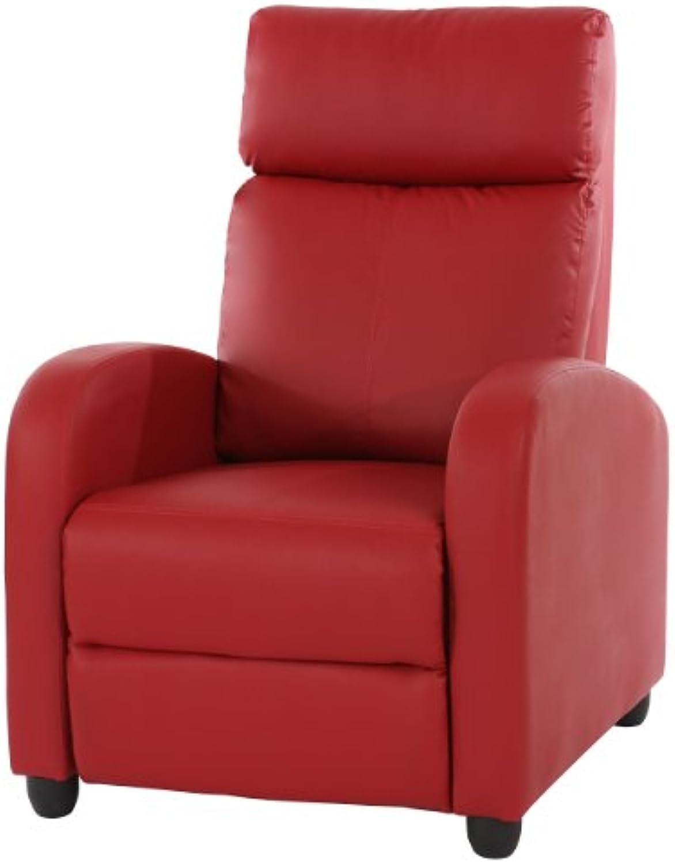 Fernsehsessel Relaxsessel Liege Sessel Denver, Kunstleder  rot