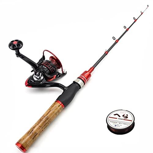 SHANDZ 1.8m Ultra Light Rod Reel Combos UL Power Lento Telescópico Spinning Rod Ciro de Pesca Peso 1-5G Bolsillo Infantil Pequeña caña de Pescar (Color : Rod Reel Set, Length : 168cm)