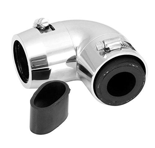 Spectre Performance 7898 Magnakool 90 Degree Radiator Hose End, Chrome, 1.750 in.
