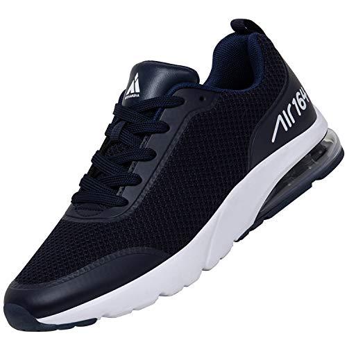 Mishansha Sportschuhe für Herren Ultraleicht Stoßdämpfung Laufschuhe Damen Fitnessschuhe Flexibel Komfortabel Turnschuhe Mode Freizeit Schuhe für Draußen Drinnen, Sneaker Dunkelblau 40