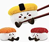 HugSmart Pet - Foodie Japan Sushi   Squeaky Soft Plush Dog Toys for Small Dogs   Puppy Toys for Teething Small Dogs   Dog Food Toy for Small Medium Dog(3 Pack)