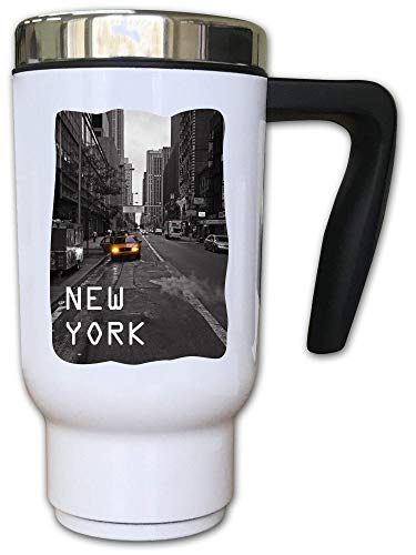Iprints New York Yellow Taxi Graphic Thermal Tea Koffiebeker
