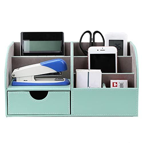 Caja De Almacenamiento De Oficina Con Cajones Almacenamiento De Cuero Multifuncional 5compartimentos De Almacenamiento Puede Guardar Teléfonos Móviles Tarjetas De Visita Etc,Green