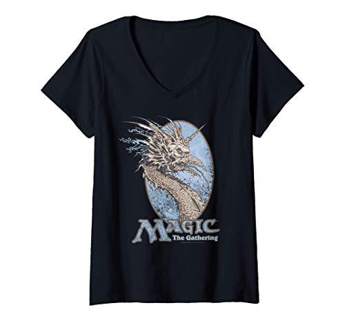 Mujer Magic: The Gathering Mirage Dragon Camiseta Cuello V