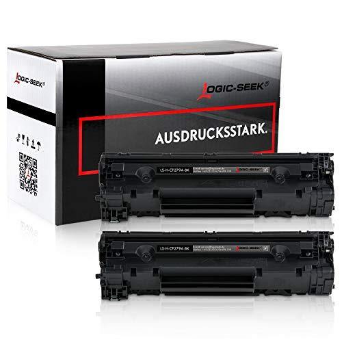 2 Logic-Seek Toner kompatibel zu HP CF279 CF-279 a 279a 79a HP Laserjet Pro M12w M12a M26a M26nw Serie - Schwarz je 1.000 Seiten