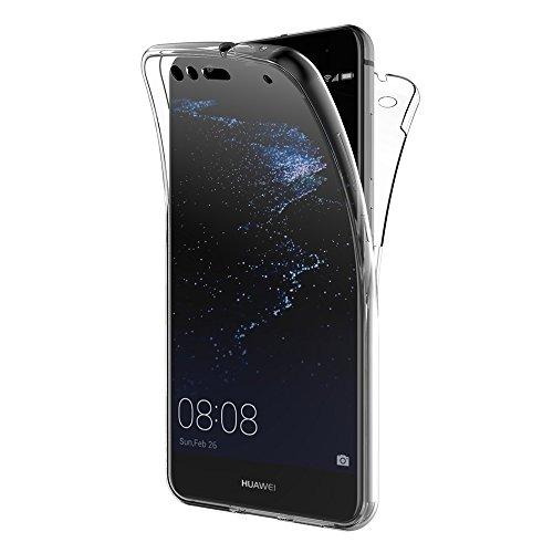 AICEK Huawei P10 Lite Hülle, 360° Full Body Transparent Silikon Schutzhülle für Huawei P10 Lite Case Crystal Clear Durchsichtige TPU Bumper P10 Lite Handyhülle (5,2 Zoll)