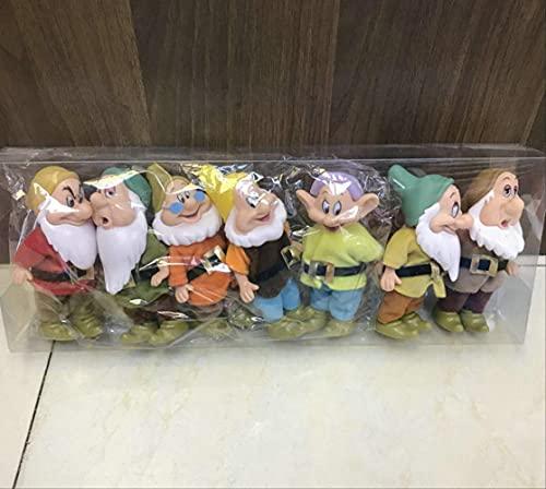 qwermz Modelo De Anime, Blancanieves Y Los Siete Enanitos PVC Figuras De Acción Juguetes Colección De Figuras De PVC Modelo 15cm