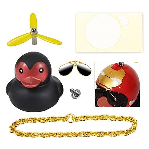 LANHUAN Paloma Popular Duck Decoraciones Casco Viento Roto Pequeño Pato Negro Mini Decoración Decoración Adornos Adornos con Hélice Conjunto (Color Name : E)