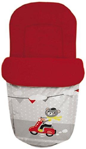 Baby Star 25503 – Sac pour siège universelle, rouge et gris