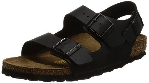 Birkenstock, sandali Milano, unisex, da adulto, Nero (Black (Schwarz)), 38 EU