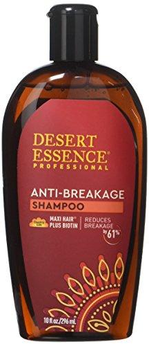 Desert Essence Anti-Breakage Shampoo - 10 Fl Oz - Maxi Hair Plus Biotin - Promotes Breakage Reduction - Provitamin B5 - Saw Palmetto - Essential Enriched Vitamins - Salon Professional Formula