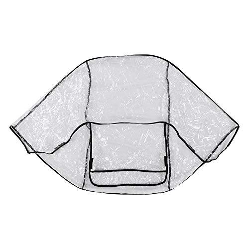 Atyhao Cubierta de Lluvia para Cochecito de bebé, Protector de PVC Transparente Resistente a la Intemperie