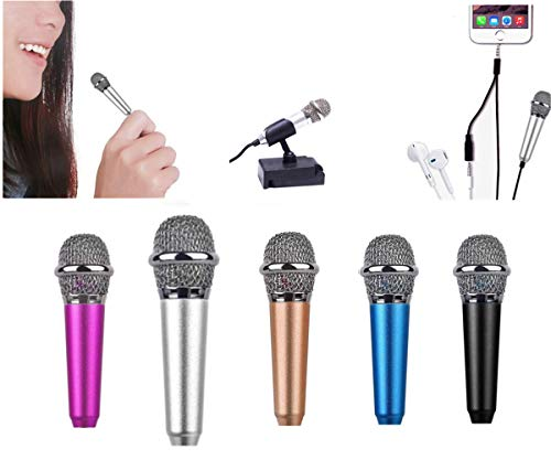Mini Microphone,Omnidirectional Mic for Voice Recording,Chatting and Singing on iPhone,Android (Silver)