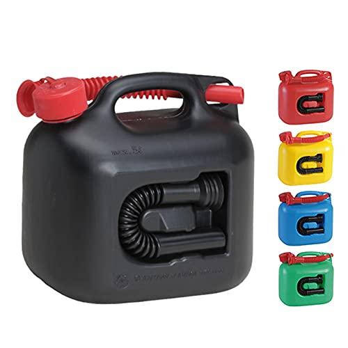 Recipientes para gasolina Bidón de gasolina de 5 litros con bomba manual de sifón, motor de combustible de espíritu de aceite, transporte y almacenamiento, ideal para coches, caravanas, autocaravana