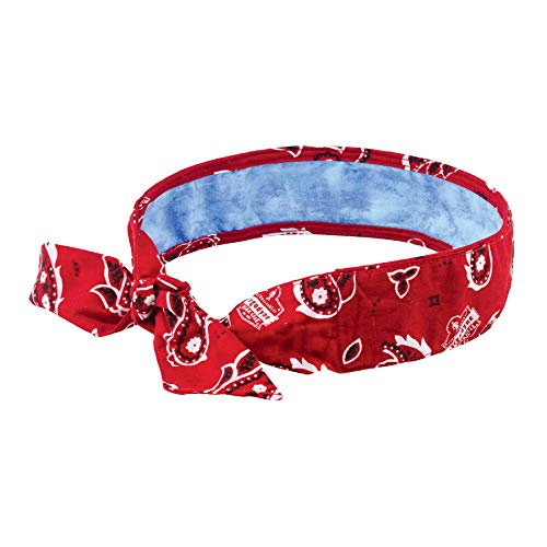 Ergodyne - 12563 Red Western Chill-Its 6700CT CottonPVA Evaporative Cooling Bandana