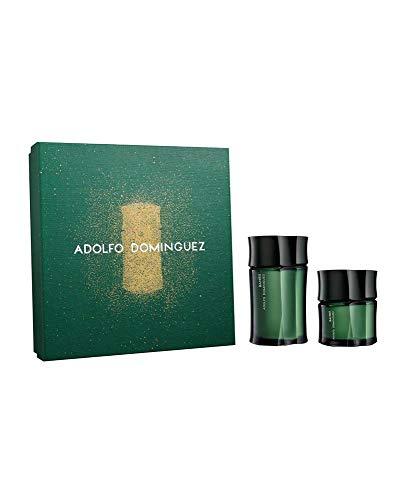 ADOLFO DOMINGUEZ Bambu POUR Homme 120ML Eau DE Toilette 60ML VAPORIZADOR Unisex Adulto, Negro, Único