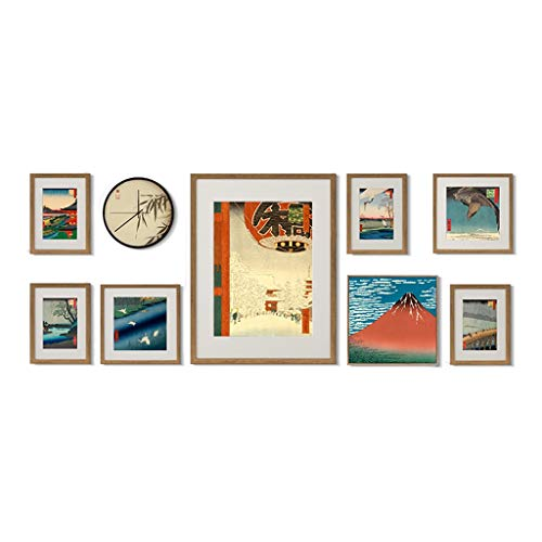 Cadres photo Photo Mur Fond Mur décoratif Mur Peinture décorative Peinture décorative Combinaison Photo Mur Salon canapé Peinture décorative Murale escalier Photo Mur décoration Peinture (Color : A)