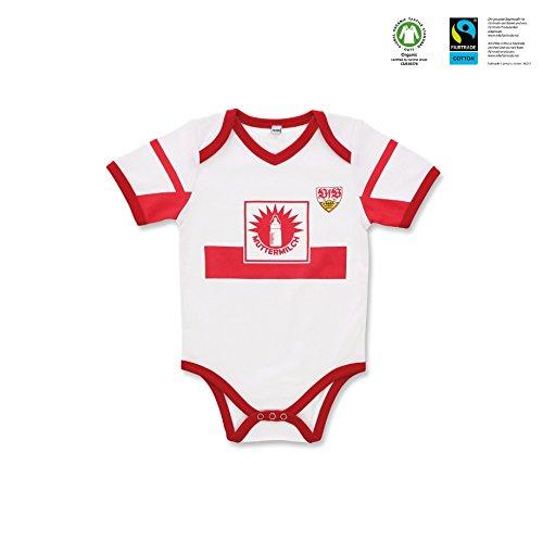 GOTS VfB Stuttgart Baby Body Muttermilch in 3 Größen verfügbar (50/56 - 74/80) VfB Fairplay Fairtrade! (74/80)