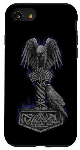 iPhone SE (2020) / 7 / 8 Viking Norse Mythology Thor's Mjolnir Odin's Huginn & Muninn Case
