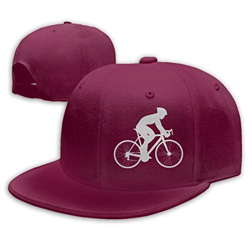 DAIAII Herren Baseball Caps,Hüte, Mützen, Classic Baseball Cap, Road Bike Silhouette Mens Womens Adjustable Plain Baseball Cap Trucker Cap