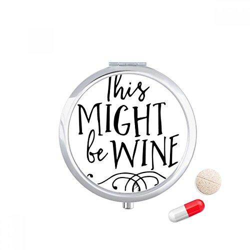 DIYthinker Dit kan wijn kant ontwerp Travel Pocket Pill case Medicine Drug Storage Box Dispenser Spiegel Gift