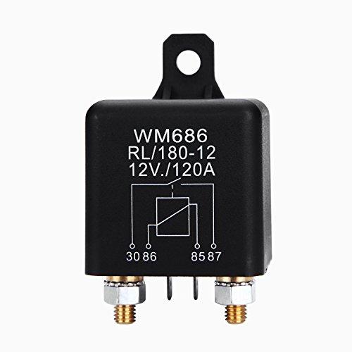 Fafada 12V 120A Relais Batterie Trennrelais für PKW BOOT CAMPING WOHNMOBIL RL/180-12