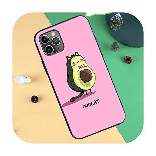 Cute Avocado Cartoon TPU Hülle für iPhone 11 Pro Max XR X XS Max 5S 6S 8 7 Plus SE 2020 12 Pro Max Back Cover-2981-For iPhone XR