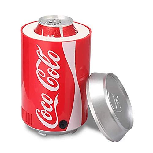 Bdesign Rápida refrigeración del Coche del USB Mini refrigeración del Coche Cola Puede Mini Nevera Latas Nevera portátil electrónica (Color : Red)
