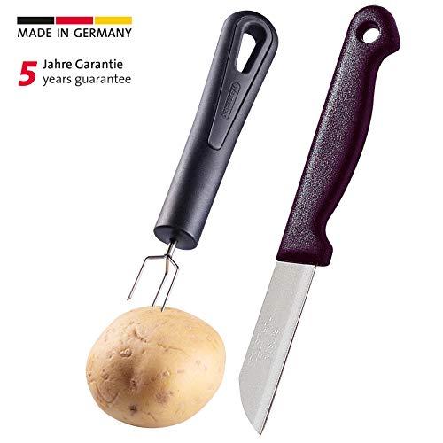 Westmark Pellkartoffelgabel- und Messer-Set, 2-tlg., Rostfreier Edelstahl/Kunststoff, Gentle/Techno, Schwarz/Silber, 28152270