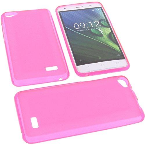 foto-kontor Tasche für Acer Liquid Z6E Gummi TPU Schutz Handytasche pink