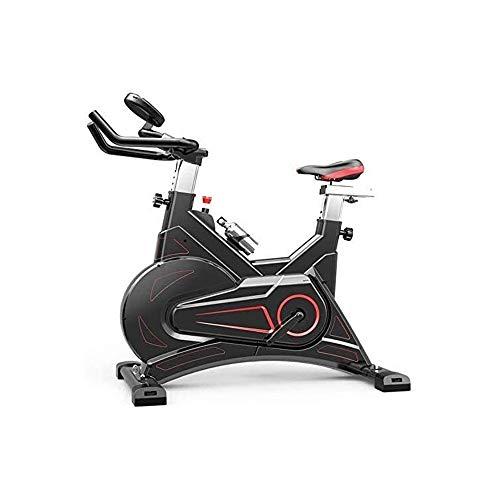 MGIZLJJ Ciclos de giro de la bici estudio de ejercicio máquinas de cardio entrenamiento, manillar ajustable Asiento Calorías LED Tiempo Distancia capacidad de carga máxima 150kg Magnética Bicicleta Es