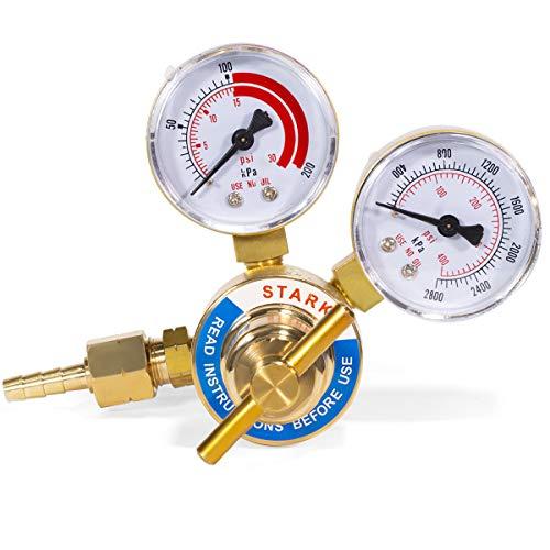 XtremepowerUS Welding Gas Welder Oxygen Acetylene Gauge Regulator Pressure Gauge for Welding Gas Torch Rear Mount Fitting (Acetylene)