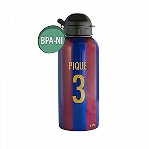 Alusport Bottles FCB piqué Bouteille Sport en Aluminium, Homme, Bleu, 0.4 L