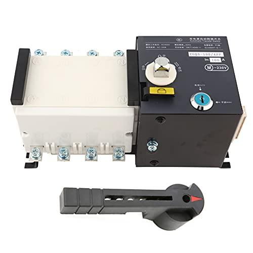Cloudbox Interruptor de Transferencia automática - ZGQ5-100/4PF Interruptor de Transferencia automática de Doble Potencia Tipo Aislamiento ATS 100A/4P