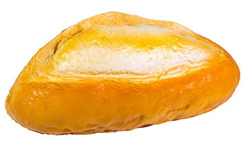iBloom Pain de Table Jumbo Realistic Bread Slow Rising Squishy Toy (Light Brown, Bread Scented) for Party Favors, Stress Balls, Birthday Gift Boxes