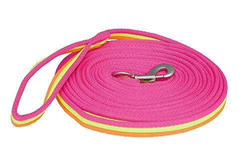Rhinegold Unisex Lunge Rein-Pink Carnival Bright Longier-Zügel, rosa/orange, Einheitsgröße