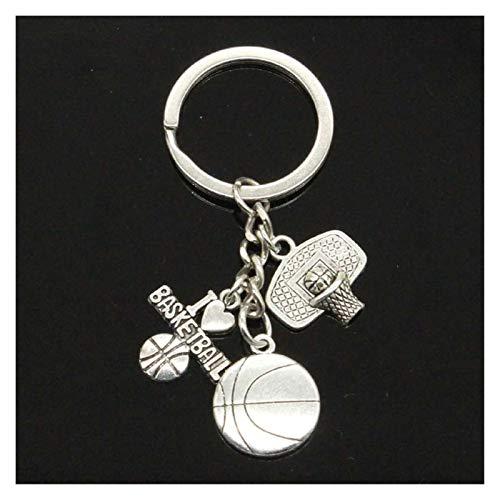 Jfsmgs Schlüsselanhänger Basketballkorb hängenden DIY handgemachte Charme Männer Keychain Auto-Schlüsselanhänger Schmuck Souvenir for Geschenk (Color : Type 4)