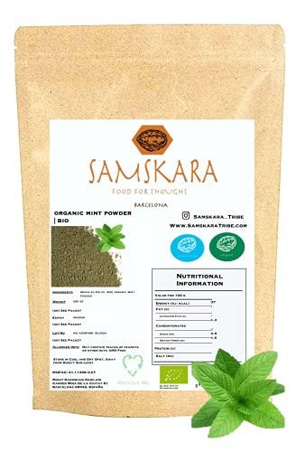 Hojas de Menta en Polvo  cultivo Ecológica BIO   Hierbabuena 100% natural   para la cocina y recetas creativas (250 gr)