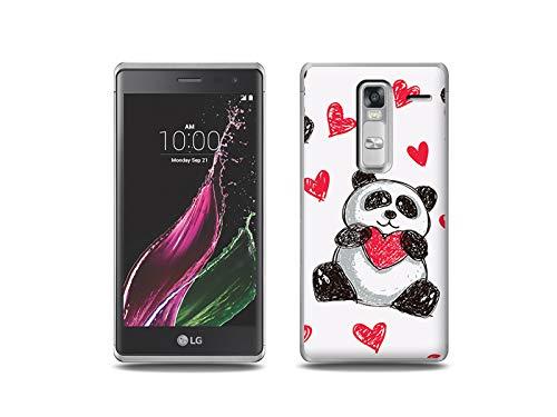 etuo Handyhülle für LG Zero - Hülle, Silikon, Gummi Schutzhülle - Panda mit Herz