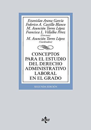 Conceptos para el estudio del derecho administrativo laboral en el grado (Derecho - Biblioteca Universitaria de Editorial Tecnos)