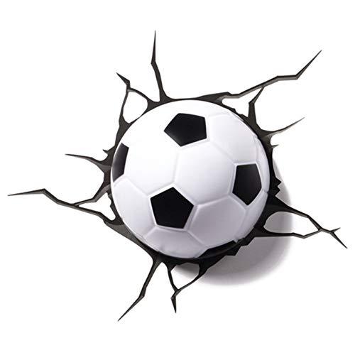 KAPAYONO LáMpara LED de IluminacióN de FúTbol 3D Dormitorio Sala de Estar DecoracióN de LáMpara de Pared Creativa de Deporte Luz de Noche Regalo de Cumplea?Os para Ni?Os